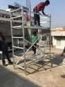 075 X 2.00 X 3.20 Meters Single Width Crystal Scaffolding With Stabilers