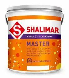 Smooth, Soft Matt Shalimar Master Acrylic Emulsion Paint