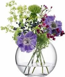 Transparent Round Clear Glass Terrarium Bowl, For Home, Size: 10 Inch