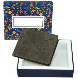 Green Color Bi Fold Branded Men's Leather Wallet With RFID, Card Slots: 8