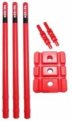 Red Abhaya Plastic Cricket Wicket Set