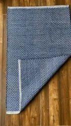 Woven Blue Cotton Handloom Rug, Size: 27 X 45 Inch
