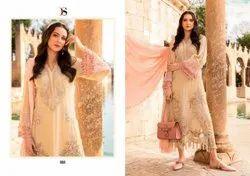 Deepsy Cotton Designer Latest Pakistani Lawn Suit, Size: Free, Dry clean