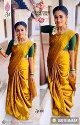 Riyan Weaving Uppada Tissue Saree, With blouse piece, 5.5 m (separate blouse piece)