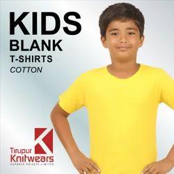 Plain Cotton Kids Round Neck T- Shirts