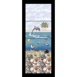 Natural Mosaic Gloss Bathroom Glazed Ceramic Wall Tile Fish Tiles, 6 Pieces, Thickness: 10 Mm