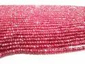 Natural Ruby Rondelle Faceted Top Quality 3.5 To 4.5mm Graduated Beads Sold Per Strand 8 Inches Long
