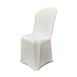 Lycra 4 Way Plain White Spandex Chair Cover, For Wedding