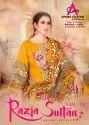 Razia Sultan Vol-32 Karachi Printed Cotton Dress Material Catalog