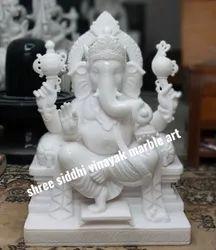 God Ganesha Marble Murti