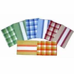 Cotton Check Printed Kitchen Towel Set, Wash Type: Machine,Hand Wash