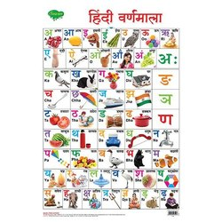 Hindi Varnamala Hard Laminated Chat