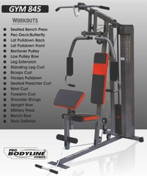Home Gym with Biceps Curl Bench and 24 Workouts