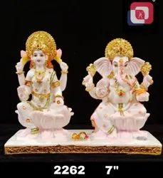 Polyresin Laxmi Ganesh Statue