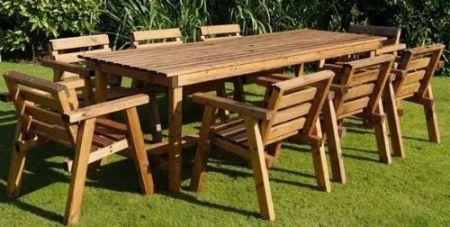 Wooden Outdoor Garden Furniture Rs, Wooden Garden Furniture