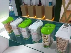 Glass & Plastic Easy Flow Storage Container