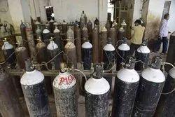 Empty Oxygen Gas Cylinders