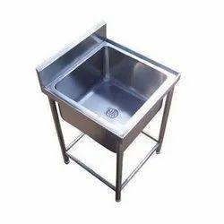 Single Stainless Steel Kitchen Sink Unit