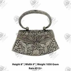White Metal Silver Plated Purse