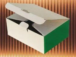 Custom Printed White And Green 5 Ply Duplex Box, For Food