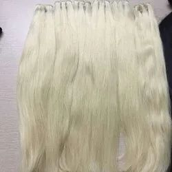 White Long Indian Human Hair Extension For Women And Girl