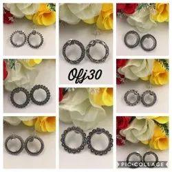 Oxidised Jewellery Earring