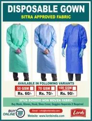 Disposable Gown SITRA Approved Fabric