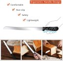 Bread Knife With Plastic Handle,Serrated Stainless Steel Blade Professional For Cutting Bread