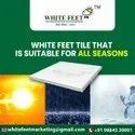 White Cool Roof Terrace Tile - White Feet Tile - Gold