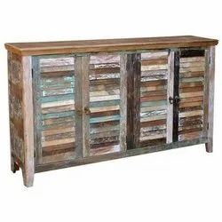 Reclaimed Wooden Sideboard, Size: 180 Cms