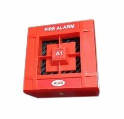 Conventional ABS Plastic Agni Fire Alarm Hooter, Size: 6x6 Inch