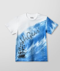 AKR Industries Lycra Cotton Printed Ship Kids T-Shirt, Size: 5-7 Years