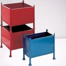 Blue and Red Ms Non Edible Cage Pallet Box
