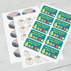 Adhesive Paper Printed Stickers, For Packaging, Packaging Type: Roll