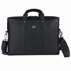 Hammonds Flycatcher Genuine Leather Black 14 inch Laptop Messenger Bag