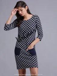 Jacquard With Pocket Women Dress