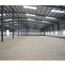 Steel Prefabricated Factory Shed, For Industry