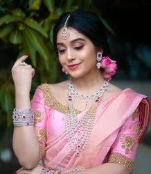 Formal Wear Border Indian Designer Saree, With blouse piece, 6.3