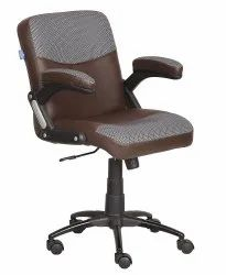 Mid Back Leatherette Office Chair Brown (VJ-2035)