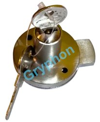 Drawer & Cupboard Round Stainless Steel Lock, Chrome