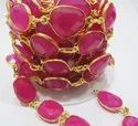 Natural Hot Pink Chalcedony Free Shape Briolette