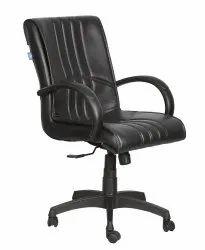 High Back Leatherette Office Chair Black (VJ-2034)