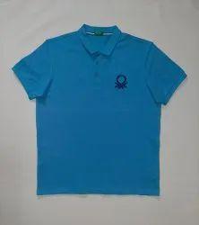 Collar Neck Half Sleeve Men Cotton T Shirt