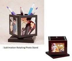 Sublimation Wooden Rotating Pen Stand