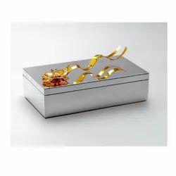 Golden Flower Silver Box