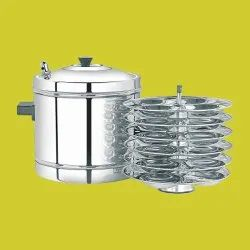 304 Ss Stainless Steel Idli Cooker, 6 Plates