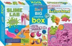 Ekta 3 In 1 Big Creative Box Magic Bouncy Balls, Slime Lab And Active Sand Sea.