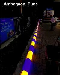 BLUE HDPE TUFF Digital LED Kerb Curb Stone, For Landscaping