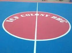 Outdoor Matte Sports Floor Coating
