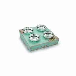 Fluted Design Silver Bowls Set Of 4